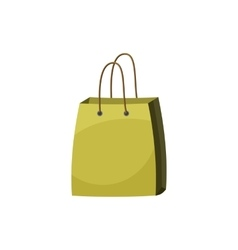 Shopping bag icon cartoon style vector image