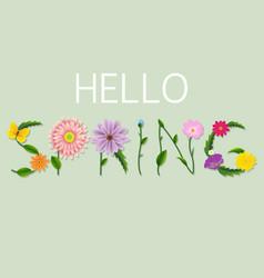 Spring text vector