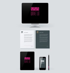 Stationery Branding Mock-Up template vector image vector image