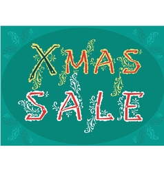 Xmas sale - card for retail vector