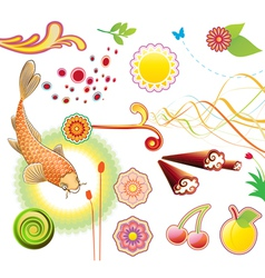 summer design elements vector image