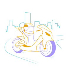 Icon motorcycle linear style vector