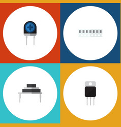 Flat icon technology set of destination receiver vector