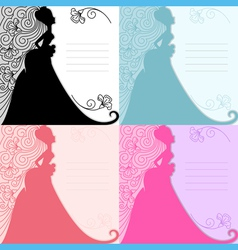 Bride invitation vector