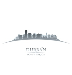 Durban South Africa city skyline silhouette vector image