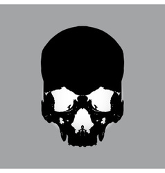 Black human skull eps10 vector