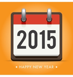 Calendar 2015 happy new year card vector