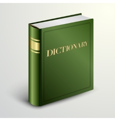 Green dictionary book vector