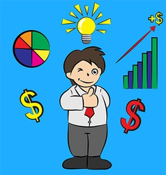 Success businessman cartoon vector