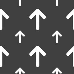 Arrow up this side up icon sign seamless pattern vector