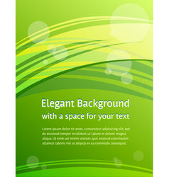 Green brochure design vector