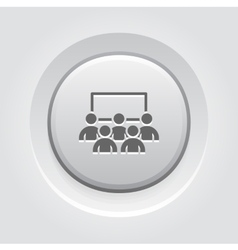 Business conference icon online learning vector