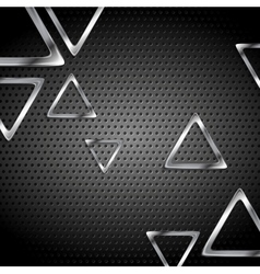 Abstract metal perforated background with metallic vector