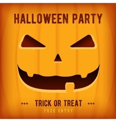 Halloween party poster design template with orange vector