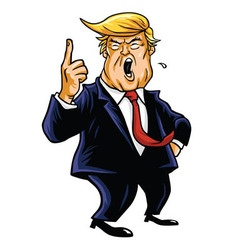 Donald trump cartoon vector