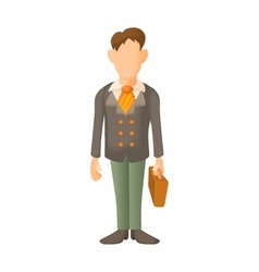 Man in suit icon cartoon style vector