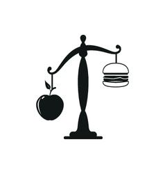 Apple or burger food design vector