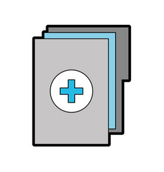 Blue and grey medical history folder vector