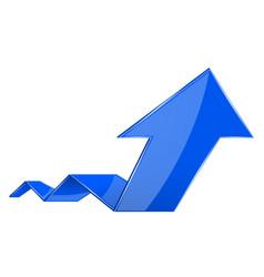 Blue up rising arrow vector