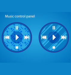 buttons for controlling music vector image vector image