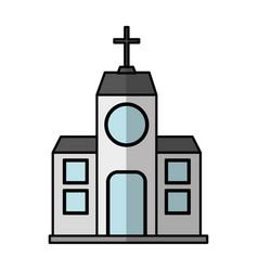 Church building exterior icon vector