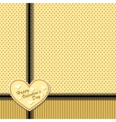 Cute vintage postcard with heart vector image
