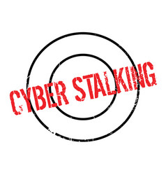 Cyber stalking rubber stamp vector