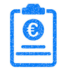 Euro prices pad grunge icon vector