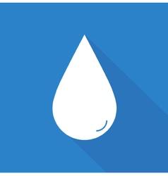 Flat water drop vector
