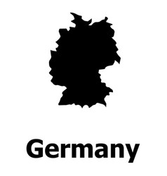 germany map icon simple style vector image
