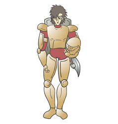 gold warrior vector image