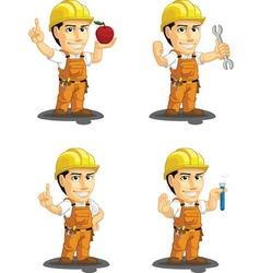 Industrial construction worker mascot 10 vector