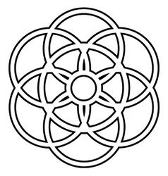 Interlocking circles vector image vector image