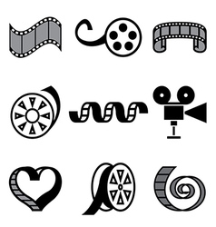 logo icons movie vector image
