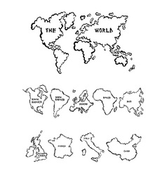 Maps collection vector image vector image