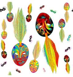 mardi gras pattern vector image vector image