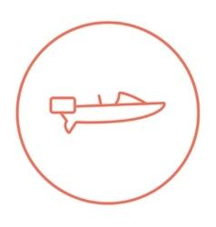 Motorboat line icon vector image vector image