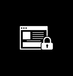 Online security icon flat design vector