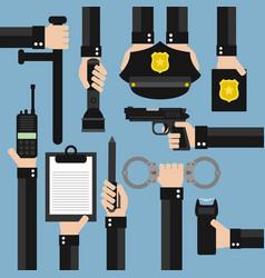 police modern design flat vector image vector image