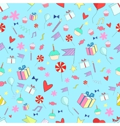 Seamless pattern holiday vector image vector image