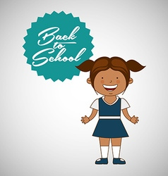 students back to school design vector image vector image