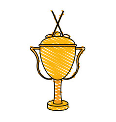 Trophy golf icon image vector