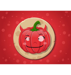 Devil girl pumpkin icon vector