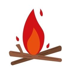 bonfire wood camping design vector image