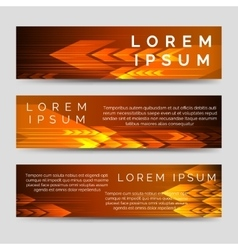 Speed banners template with orange arrows vector image