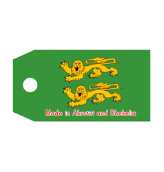 Akrotiri and dhekelia flag on price tag with word vector