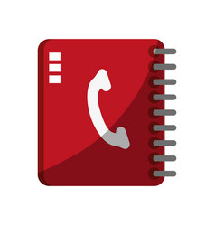 phone book icon image vector image
