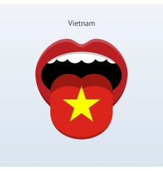 Vietnam language abstract human tongue vector
