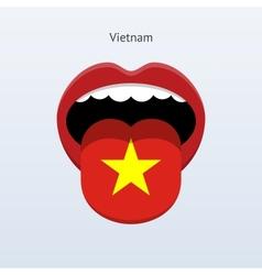 Vietnam language abstract human tongue vector