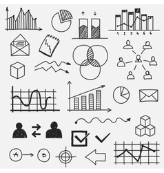 Hand drawn business doodle sketches elements vector